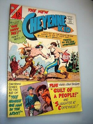 Cheyenne Kid #55 1966-Charlton-Indian fight cover-12¢ cover price-VG