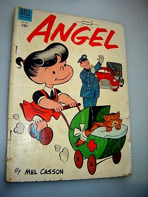 ANGEL (1954 Series) #1 FC #576 and #6 DELL Comics Books G 3.5/4.0