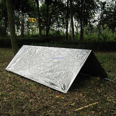2 Person Emergency Survival Mylar Thermal Shock Cold Weather Shelter Tube Tent B