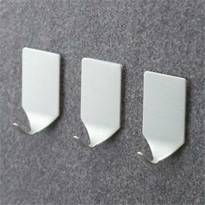 Strong Self Adhesive Stainless Steel Hooks Kitchen Stick On Wall Door LA