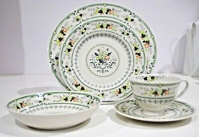 ROYAL DOULTON PROVENCAL Place Setting Dinner Salad Cereal Cup Saucer