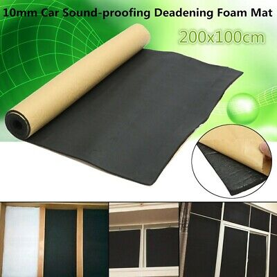 10mm Closed Cell Foam Car Auto Sound Insulation Cotton Noise Proofing Mat 1mx2m