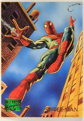 1995 Fleer Marvel Masterpieces Card #91 Spider-Man