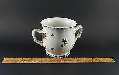 Antique Chinese Export Famille Rose Sugar Twist Handles Lacking Cover 18th C.