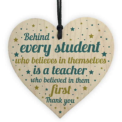 Gift For Teacher And Assistant Wood Heart Plaque Thank You Gifts Leaving School