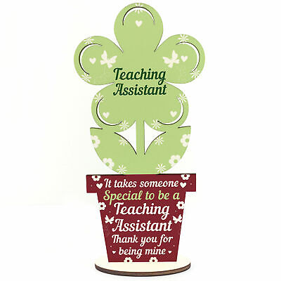 Gifts For Teaching Assistant Wooden Flower Thank You Gifts Leaving School Gifts