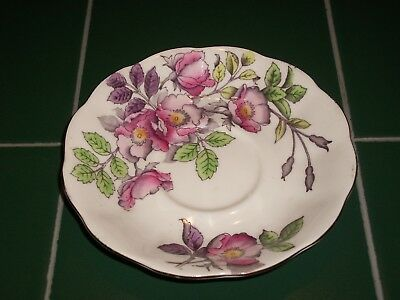 "Royal Albert Bone China England Flower of the Month June "" Dog Rose "" Saucer"