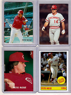 Lot of 4 Pete Rose rare Broder cards 25+ years old, all NM-MINT condition