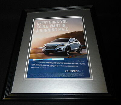 2015 Hyundai Tucson Framed 11x14 ORIGINAL Advertisement