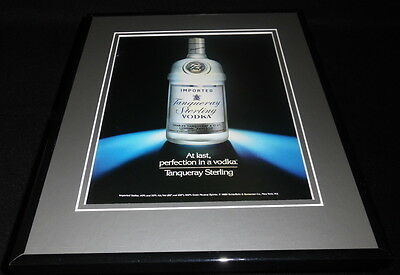 1990 Tanqueray Sterling Vodka Framed 11x14 ORIGINAL Advertisement
