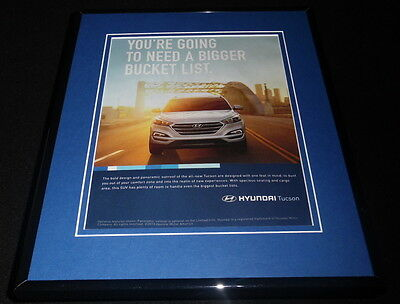 2015 Hyundai Tucson Framed 11x14 ORIGINAL Advertisement C