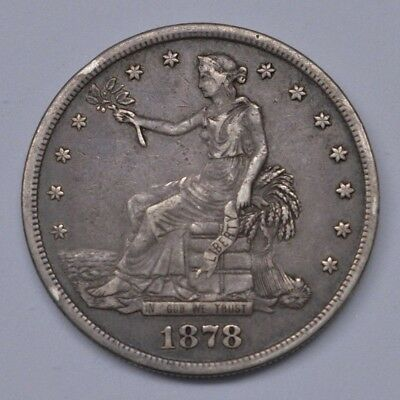 1878-S Trade Silver Dollar T$1 Coin - Uncertified VF/XF