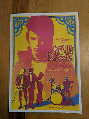 "repro DAVID BOWIE HAMMERSMITH ODEON 11.5"" x 16.5"" poster"