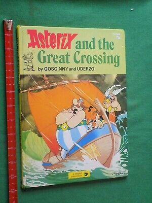 vintage 1978 Asterix and the great crossing large Hardback graphic novel