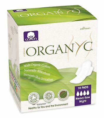 Organ(y)c - Feminine Pads - Heavy Flow - 10 count