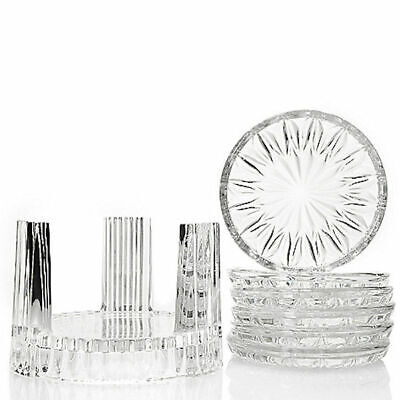 Marquis by Waterford Set of 6 Crystal Coasters w/ Holder