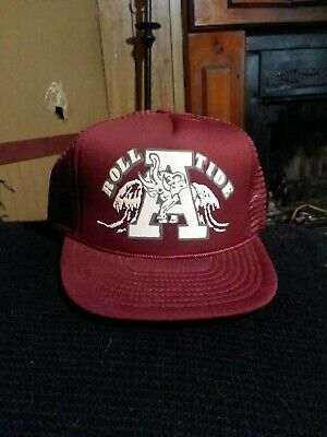 23ca240306ab8 VINTAGE ALABAMA ROLL tide trucker hat -  15.00