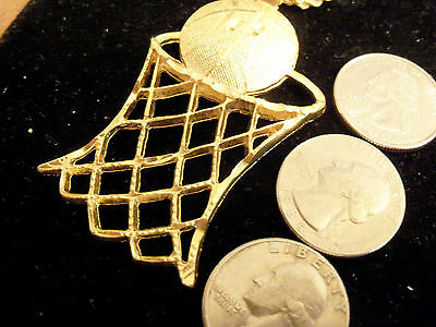 bling gold plated basketball sports pendant charm chain hip hop necklace jewelry