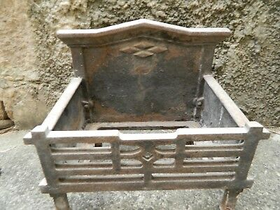 Vintage Antique 1800s Cast Iron Fireplace Coal Box