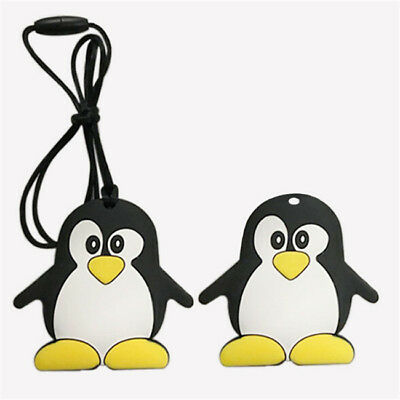 Penguin Silicone Teething Pacifier Baby Soother Pendant  BPA Free Teether Toy LD