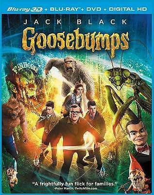 BLU-RAY Goosebumps (Blu-Ray/DVD, 3-Disc Set; 3D) NEW 3D Jack Black