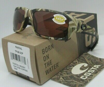 930811a37 COSTA DEL MAR mossy oak camo/copper FANTAIL POLARIZED 580P sunglasses! NEW!