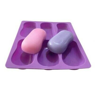 ROUNDED BAR MOULD - 6 cavity Quality Silicone Soap/Candle/Ice Mold, Resin,