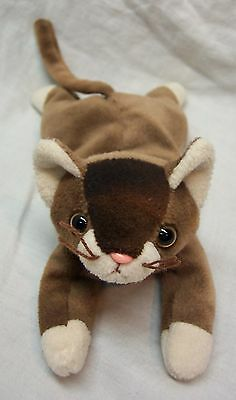 a6a377788d7 TY Beanie Baby BROWN   WHITE POUNCE THE CAT 7