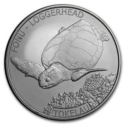 TOKELAU 5 Dollars Argent 1 Once Tortue Caouanne 2019