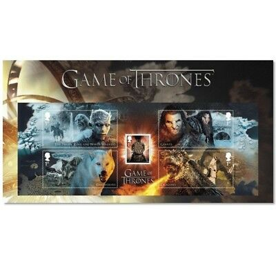 GB Game of Thrones Character miniature sheet with souvenir card MNH 2018
