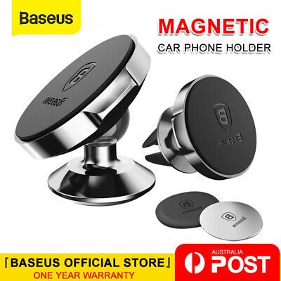 Baseus Car Mount Phone Holder Dock Air Vent Dashboard Magnetic Universal Phone