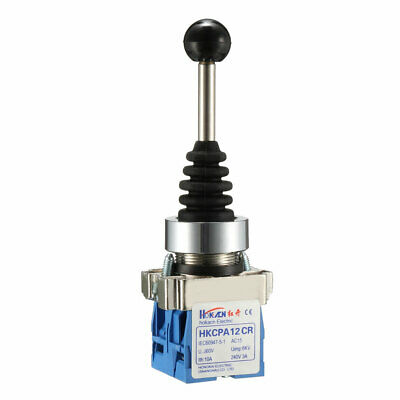 2 Directions Latching Monolever Joystick Switch AC 240V 3A Blue