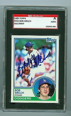 Bob Welch Signed 1984 Topps Baseball Card Autographed
