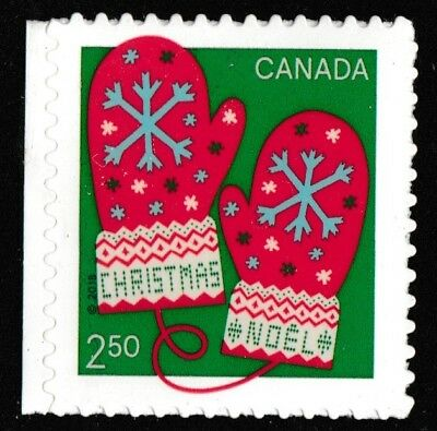 Canada 3136 Christmas Warm and Cozy Mittens $2.50 single (from booklet) MNH 2018