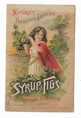 Old Quack Medicine Trade Card California Fig Syrup San Francisco Syrup Of Figs