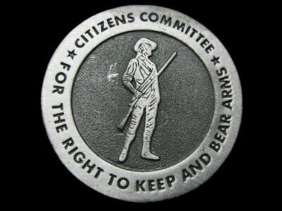 LB19125 COOL 1970s CITIZENS COMMITTEE FOR THE RIGHT TO KEEP AND BEAR ARMS BUCKLE
