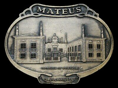 LB21135 VINTAGE 1970s ***MATEUS*** WINE PRODUCT OF PORTUGAL BOOZE BELT BUCKLE