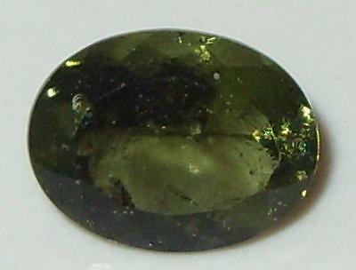 1.58ct Faceted Natural Czechoslovakia Moldavite Oval Cut 9x7mm SPECIAL
