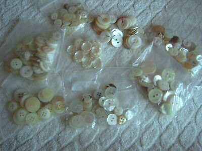 : Vintage Buttons - Collection - Various  Styles - Mother Of Pearl -  Sets  [Gg]