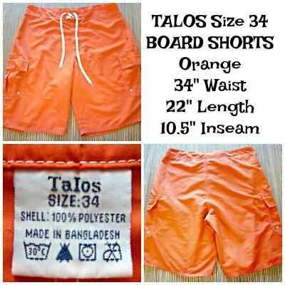 ed09fc4ce0 TALOS Men's Size 34 BOARD SHORTS SWIM TRUNKS - Orange 34