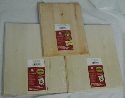 THREE New WALNUT HOLLOW Pine Rectangle Plaque - 2 11x14 and 1 9x12
