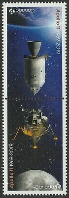 Canada Apollo 11 'P' pair set (2 stamps from souvenir sheet) MNH 2019