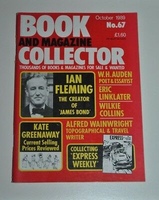Book Collector Oct 1989 # 67  Ian Fleming, W.H Auden, Wilkie Collins, Wainwright