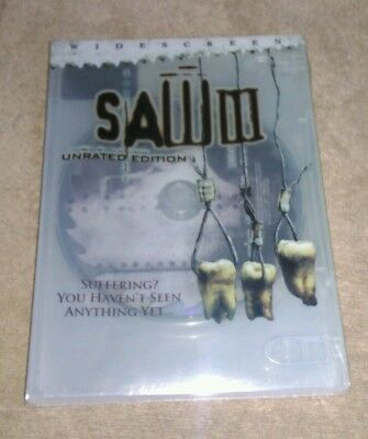 Saw III DVD 2006 Unrated Widescreen Brand New Sealed