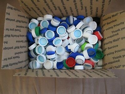 400 + Plastic Soda And Water Bottle Caps Assorted Colors