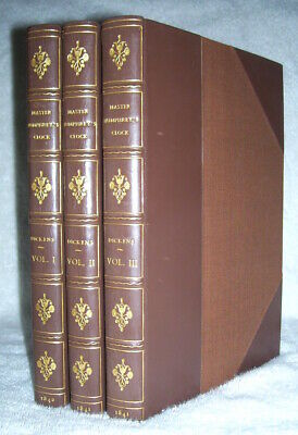 Charles Dickens   MASTER HUMPHREY'S CLOCK   First Edition 1st print Fine leather