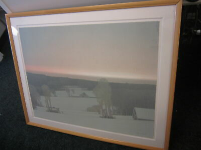 Pencil-Signed Russell Chatham Ltd. Edition Print WINTER LIGHT #103/275 Framed