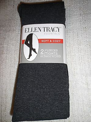 544a1b7b8962 Ellen Tracy Essentials 2-Pair Ladies M/L Soft & Cozy Fleeced Tights Black