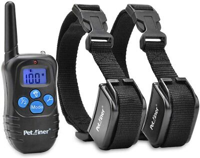 Petrainer Dog Training Shock Collar Remote Rechageable Electric DRB Open Box