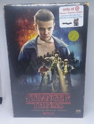 Stranger Things Season 1 Collectors Edition Target Edition Blu-ray DVD VHS Case